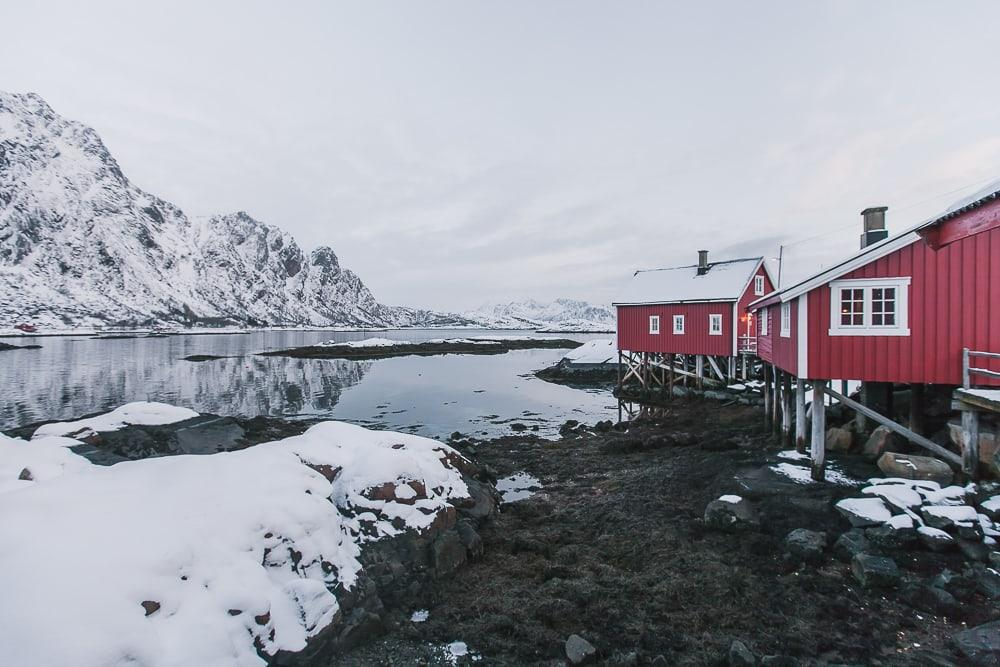 svinøya svolvaer lofoten norway in january