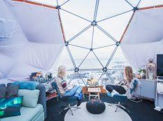 arctic dome igloo norway narvik