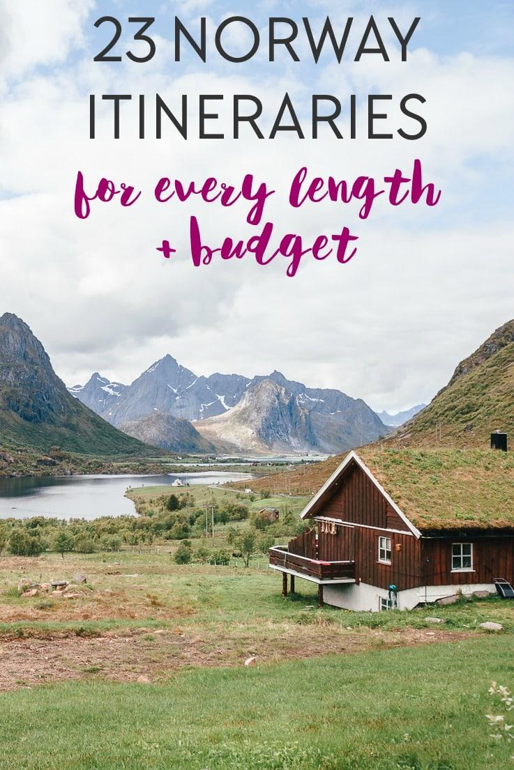 the best Norway itinerary for 2 days to 2 weeks in Norway