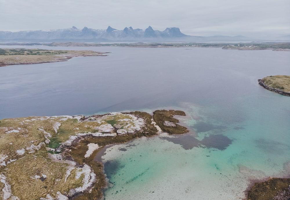 seven sisters mountain peaks Sandnessjøen, Helgeland, Norway