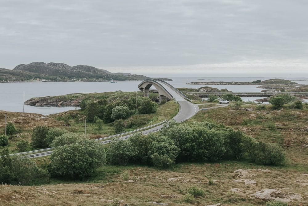 herøy bridge helgeland coast norway