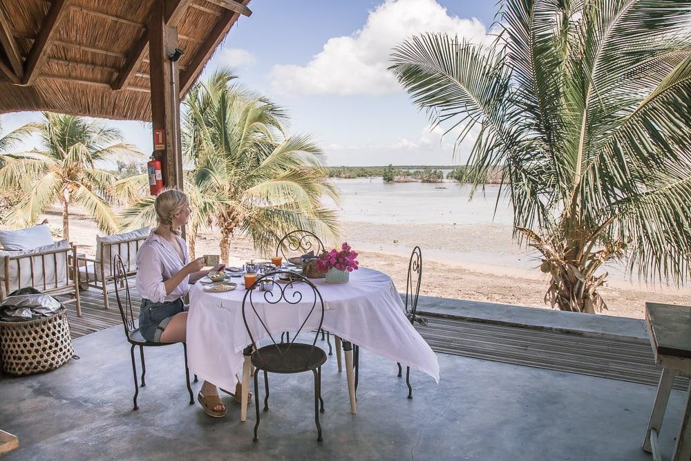 breakfast mwani house ibo island quirimbas mozambique