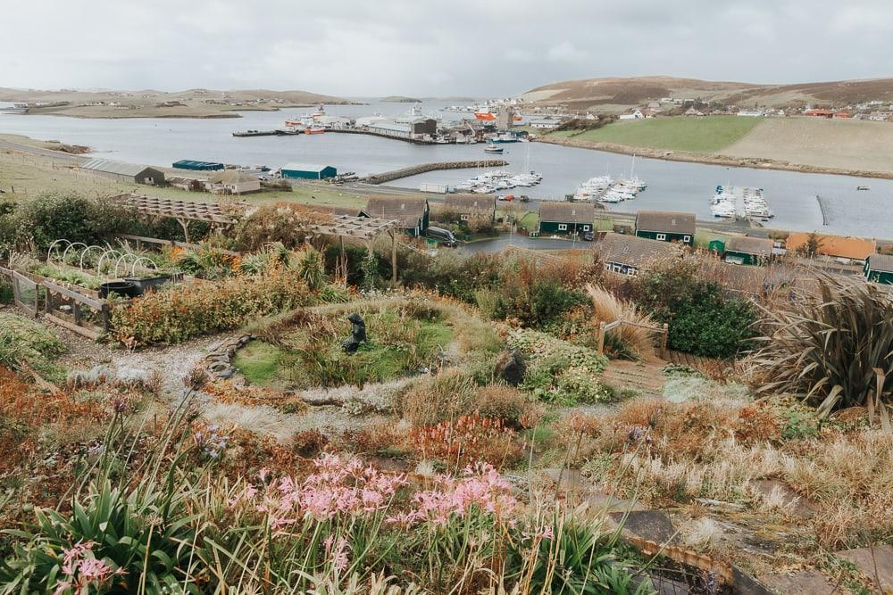 sarah kay arts and gardens shetland view