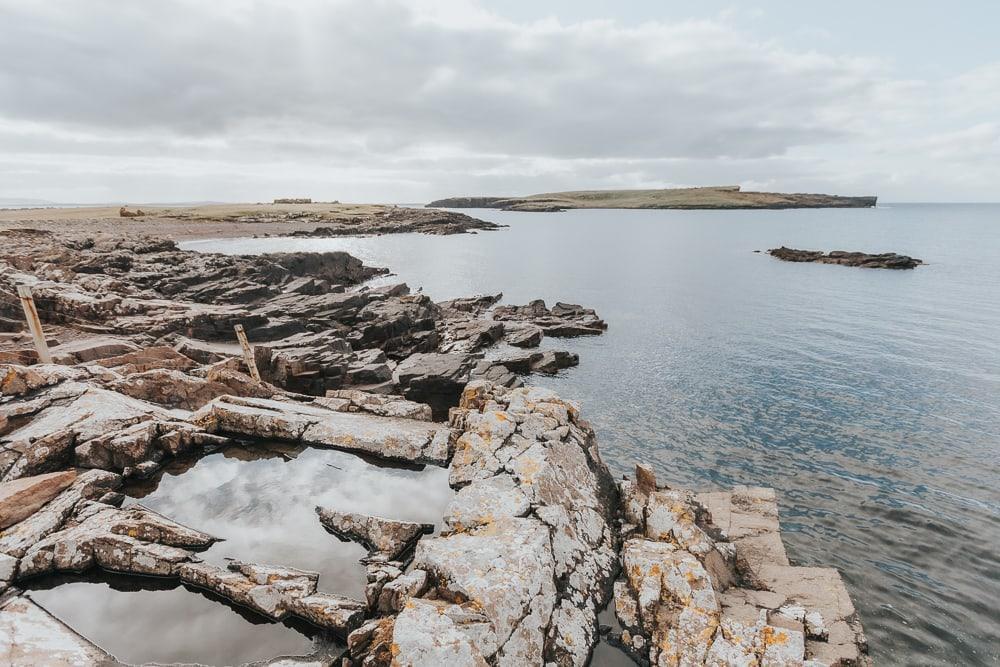 shetland coast in autumn