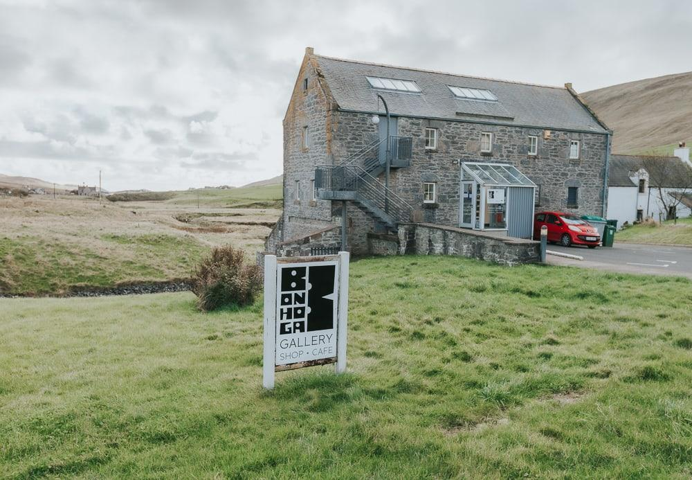 bonhoga gallery and cafe in weisdale mill shetland