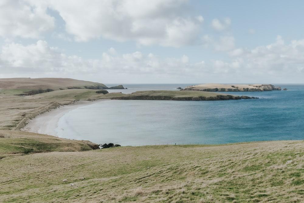 isle of st ninian's tombolo beach shetland