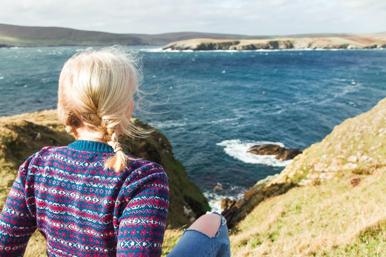 shetland coast wool sweater ninian