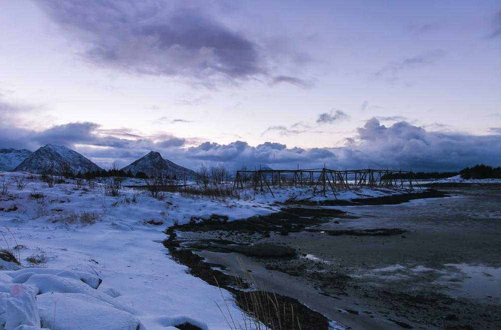 bolga island meløy helgeland norway in winter