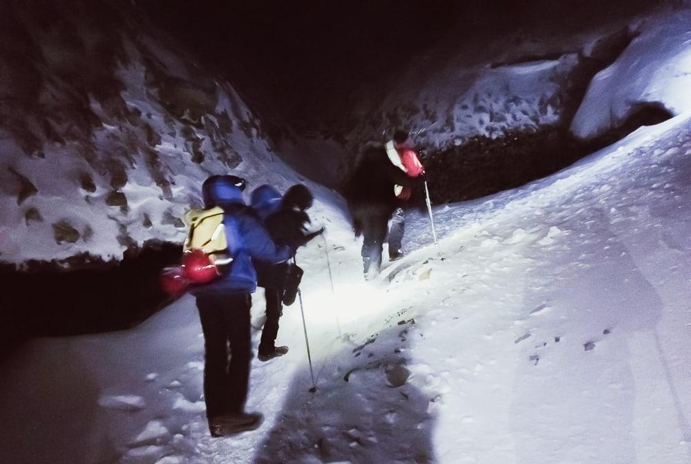 ice cave hike svalbard