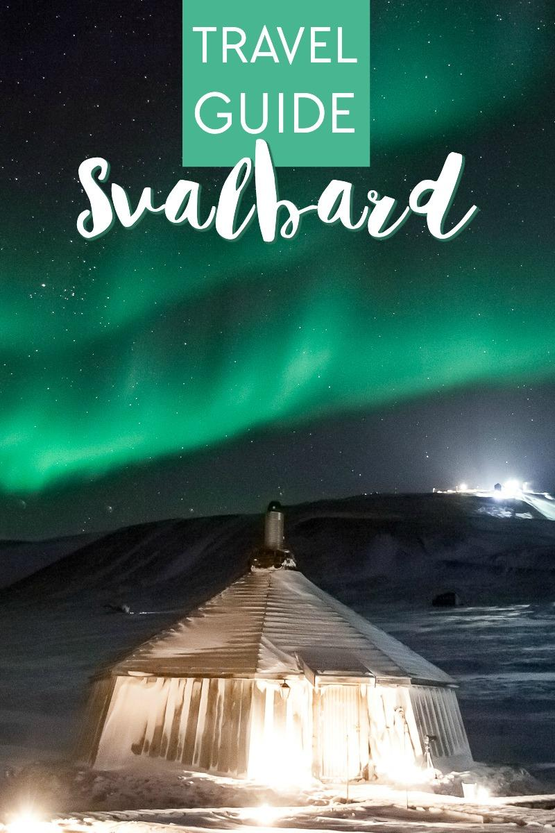 travel guide to Svalbard, Norway including northern lights, husky sledding, and an arctic ice cave hike