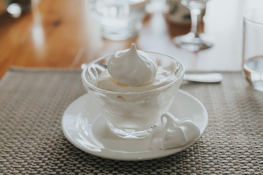darwin house dessert puffin meringue falklands