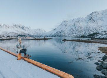 lofoten norway in january snow