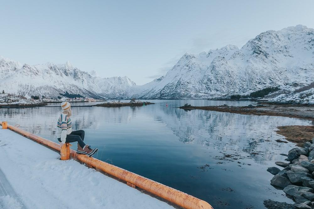lofoten norway in january snow