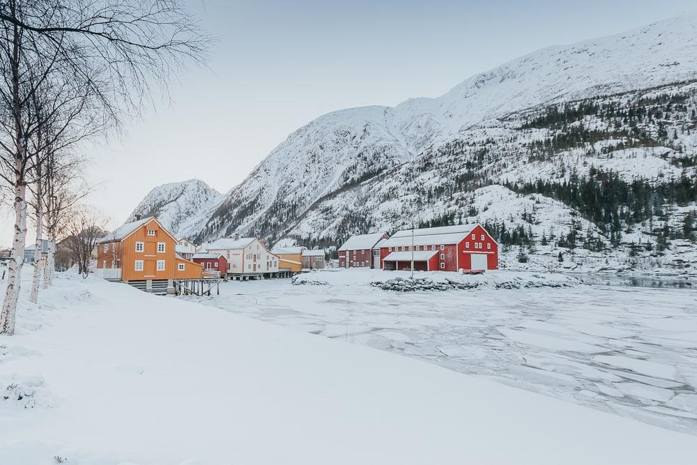 winter in mosjøen, norway