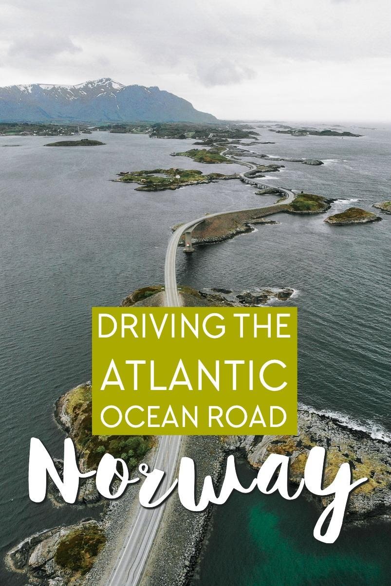 Driving the famous Atlantic Ocean Road in Norway