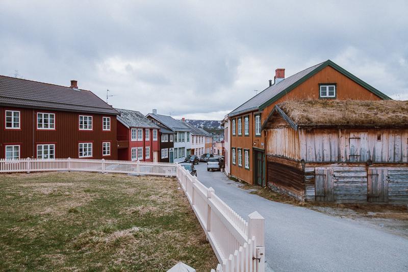 downtown Røros in summer