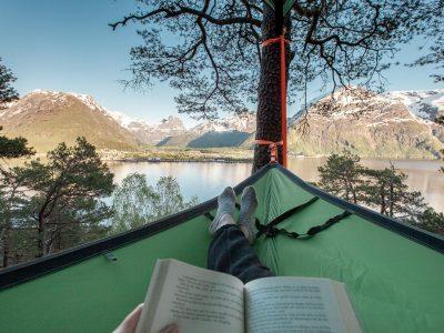camping tree tent Isfjorden, Romsdalen Norway