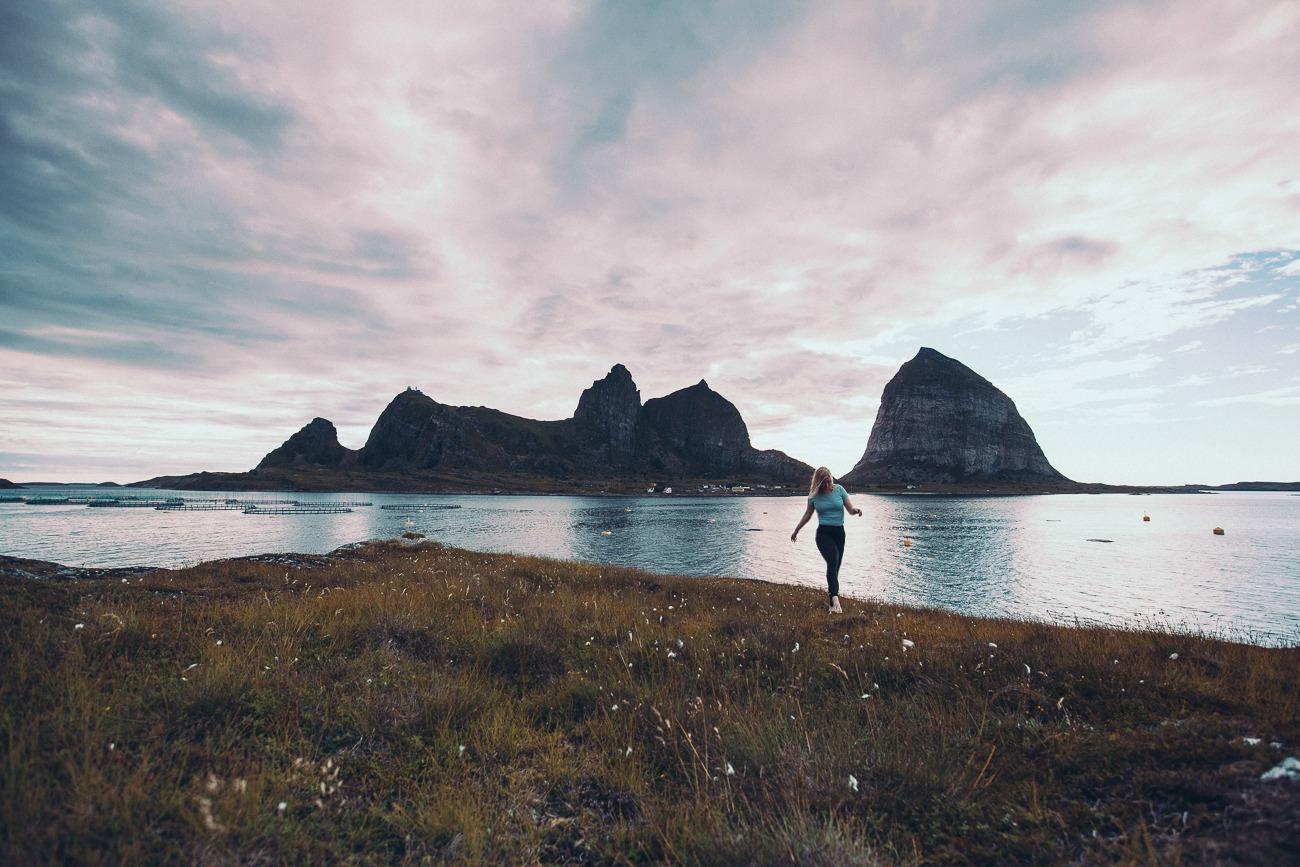 summer in træna island helgeland coast norway