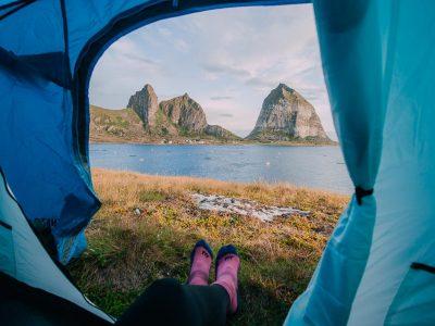 camping on træna island helgeland coast norway