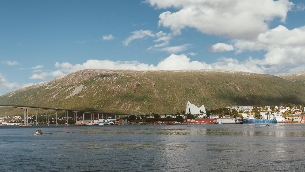 tromsø harbor norway in august