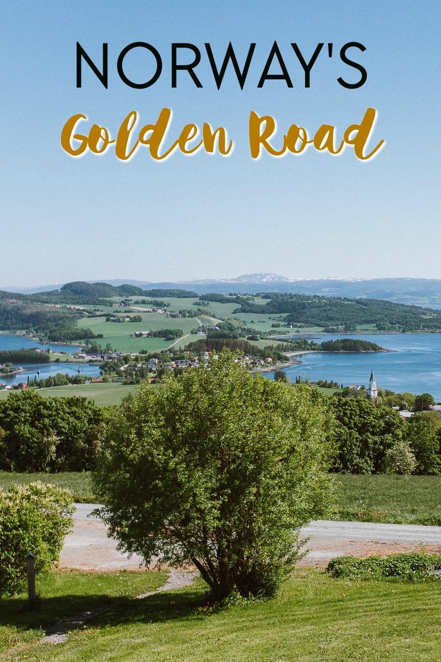 The Golden Road (also called Golden Detour) in Trøndelag, Norway