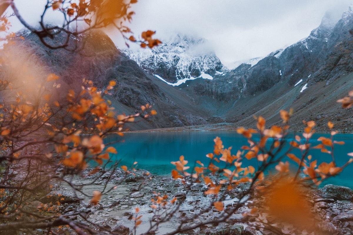 blåisvatnet blue lake lyngen alps norway