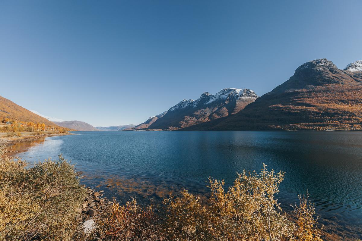 lyngenfjord norway in September norway