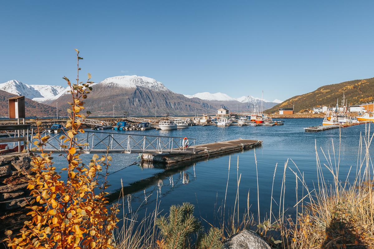 lyngenfjord norway in autumn norway