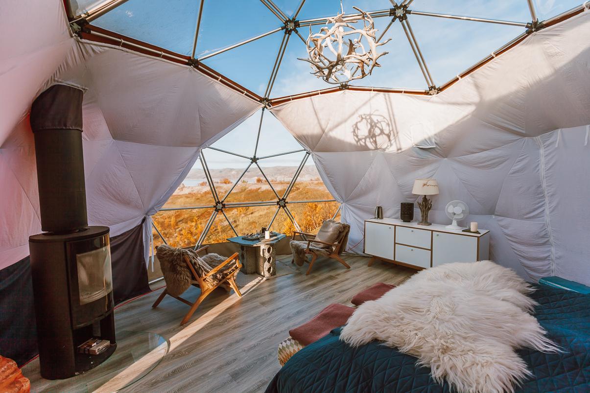 arctic dome aurora finnmark kokelv norway