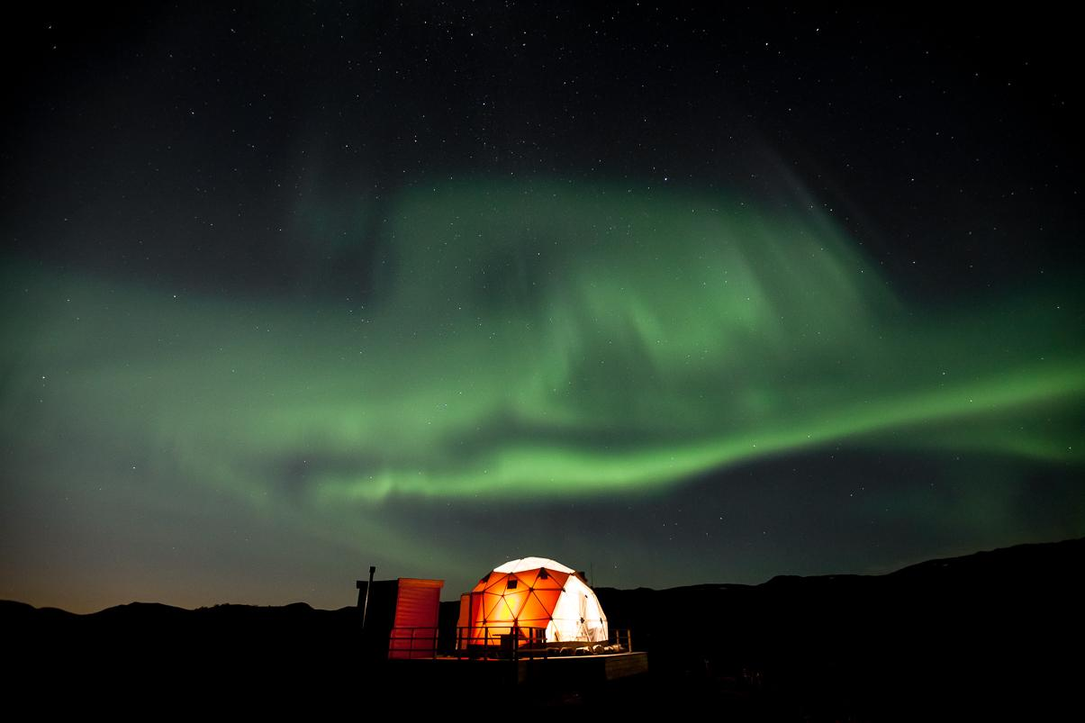aurora finnmark arctic dome airbnb norway