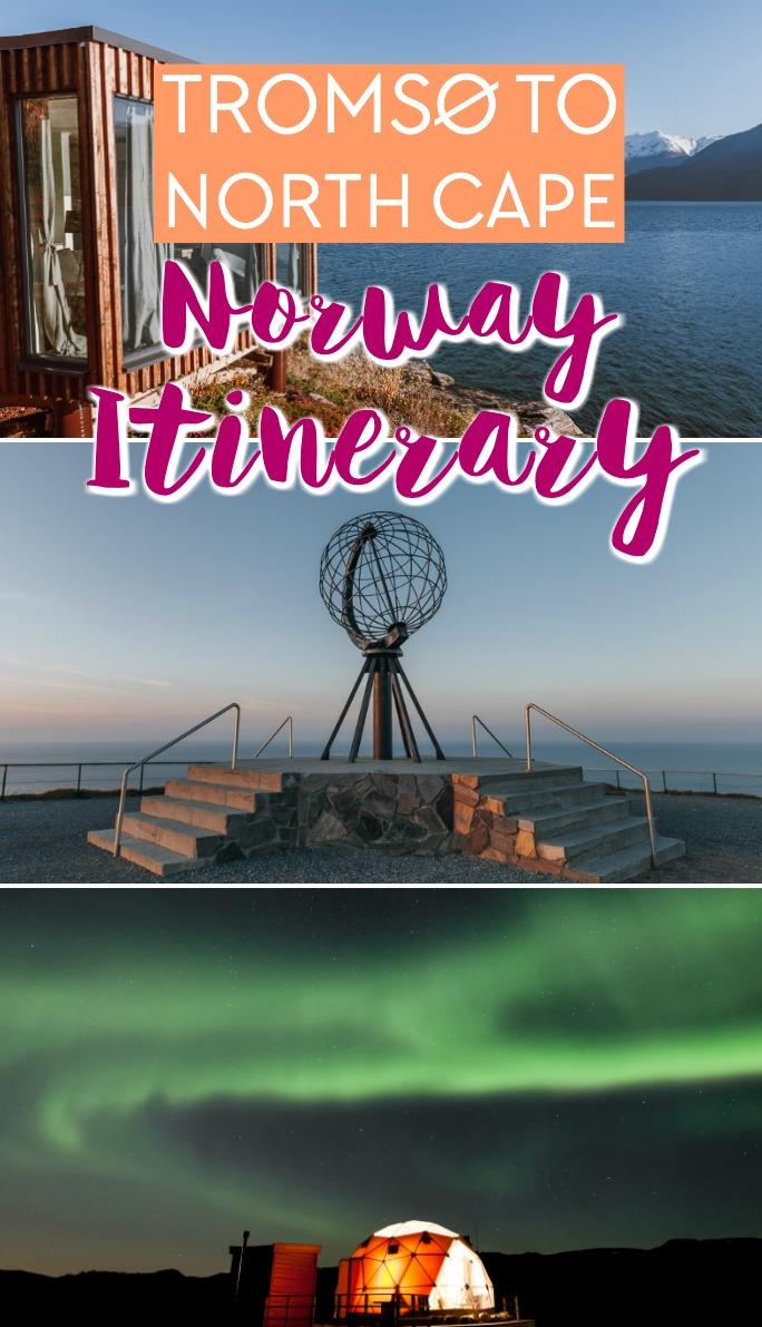 Tromsø, Lyngen, Alta, North Cape one week Norway itinerary