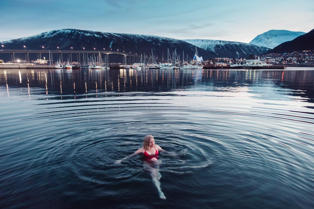 pust sauna winter swimming tromsø norway
