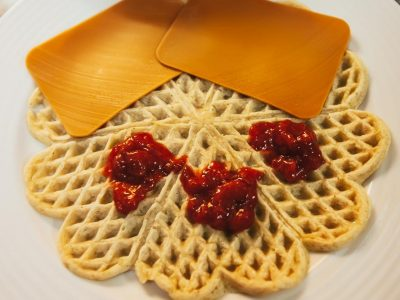norwegian waffles with brown cheese