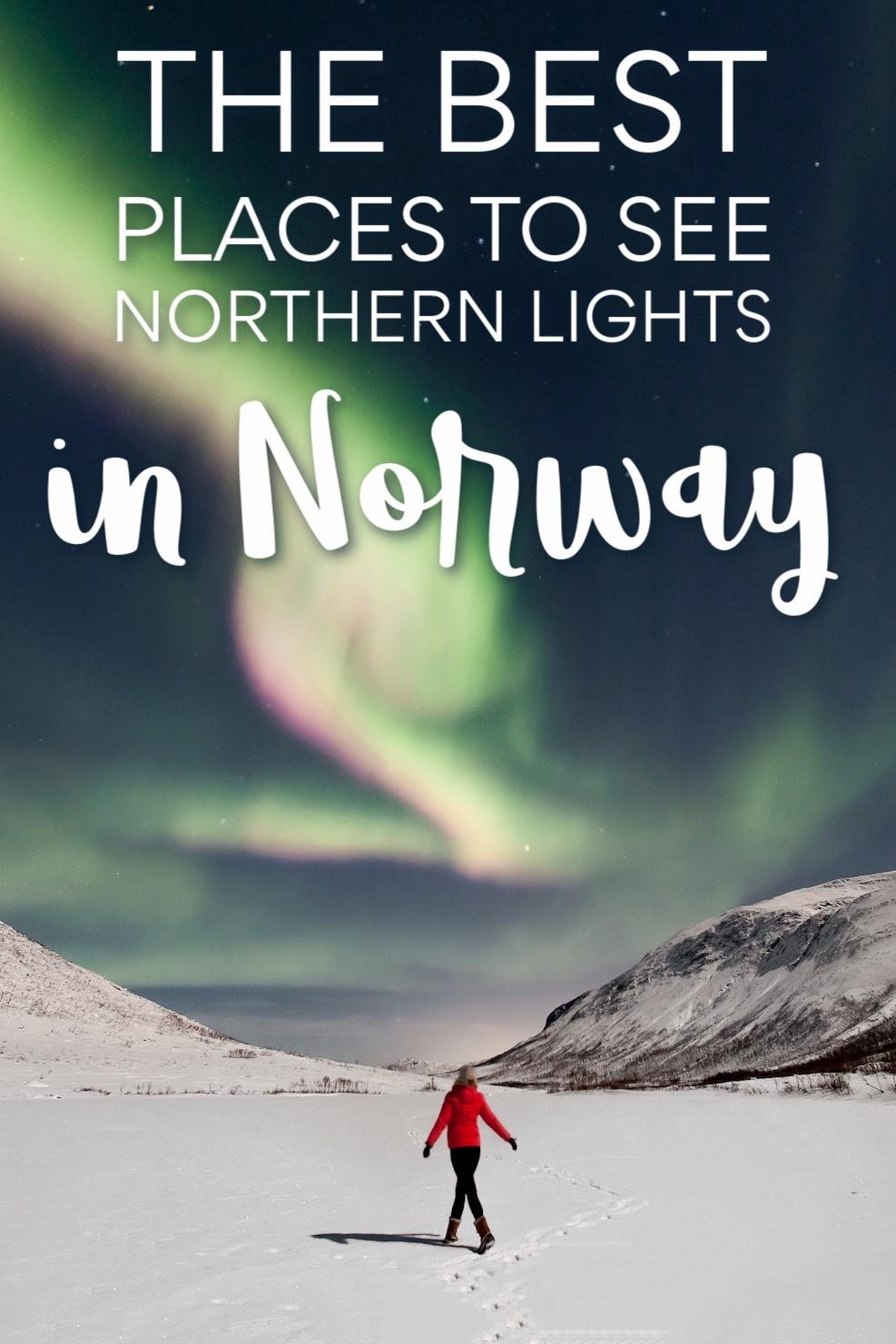 best places to see northern lights in norway