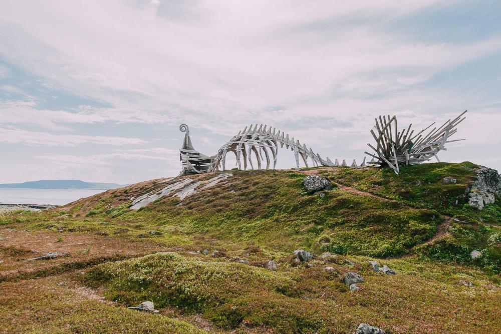 Drakkar - Leviathan sculpture vardø norway